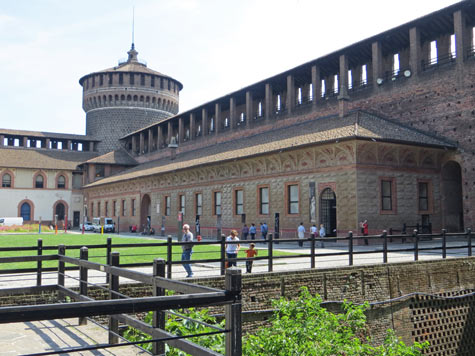 Ancient Art Museum in Milan Italy (Milano Italia)