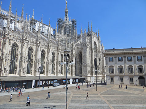 Milan Cathedral (Duomo) in Lombardy Italy