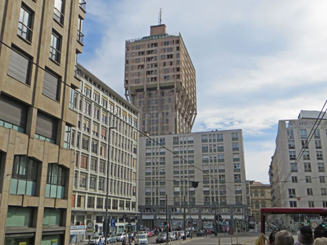 Velasca Tower in Milan (Torre Velasca)